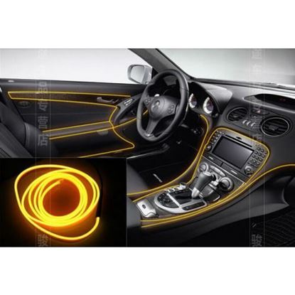 Picture of YELLOW COLOUR EL CAR INTERIOR COLD LIGHTS 9FT