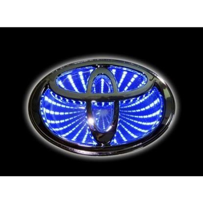 Picture of TOYOTA 3D CAR EMBLEM LED LOGO LIGHTS BLUE