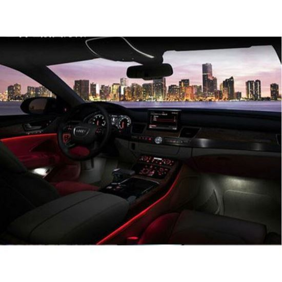Picture of RED COLOUR EL CAR INTERIOR COLD LIGHTS 9FT