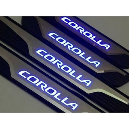 Picture of LED STAINLESS DOOR SILL PLATES FOR TOYOTA COROLLA 2014-2017