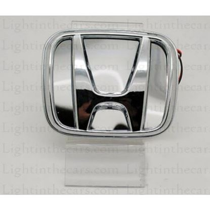 Picture of HONDA 3D CAR EMBLEM LED LOGO LIGHTS WHITE
