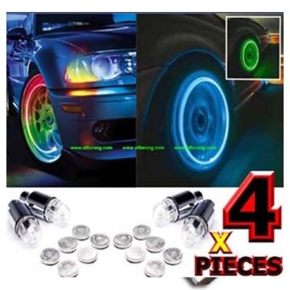 Picture of CAR TYRE LED LIGHT WITH MOTION SENSOR – SET OF 4