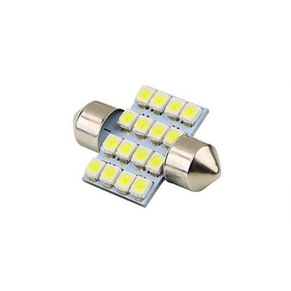 Picture of BLUE 16 SMD LED Interior Car Roof Light / Dome Light