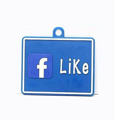 Picture of Car Hanging Facebook Tag - Blue