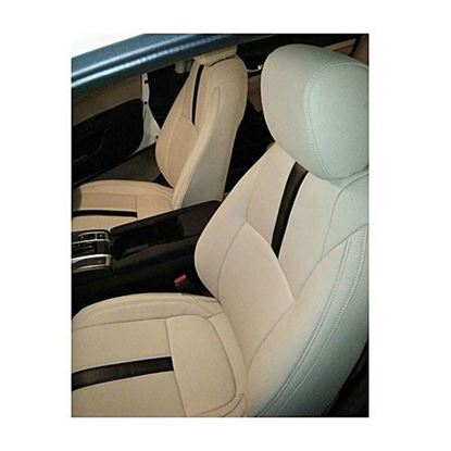 Picture of Honda Civic Seat Covers Beige with Single Black Line - Model 2016-2017