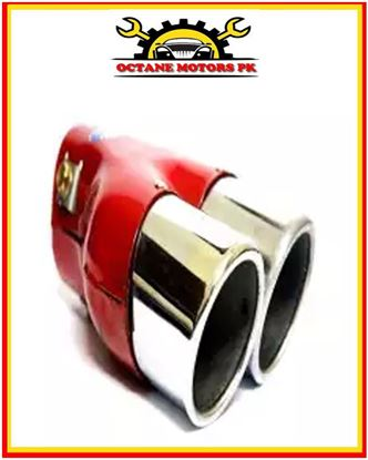 Picture of Double-Coated Silencer Cover - Silver and Red