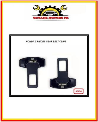 Picture of Honda Logo Seat Belt Clips 2 Pieces - Black