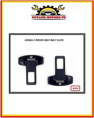 Picture of Honda Logo Seat Belt Clips 2 Pieces - Black