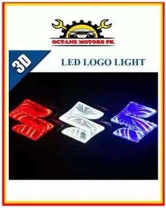 Picture of Car 3D LED Light Logo Suzuki Badge - White