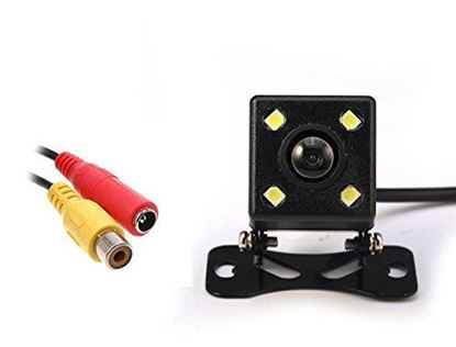 Picture of Car Rear View Camera HD Night Vision Reversing Backup Camera 4 LED 170° Wide Angle Waterproof Built-in Scale Line